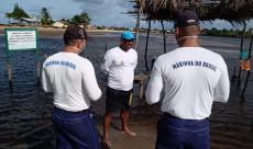 Militares da Capitania dos Portos do Rio Grande do Norte  conscientizam comunidade marítima sobre prevenção ao coronavírus