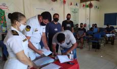 Os aquaviários receberam as CIR e os certificados de conclusão do CFAQ-MAC/MAM em Sirinhaém, a 76 km da capital pernambucana