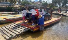 Equipe de Inspeção Naval  da Capitania dos Portos do Rio Grande do Norte realiza verificação de itens de salvatagem em balsa