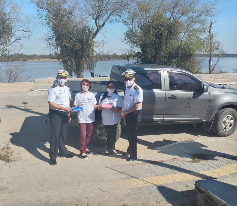Doação de máscaras à Associação de Pescadores, em JaguarãoRS, pertencente à área de jurisdição da CPRS..jpg