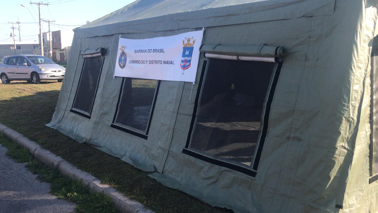Grupamento de Fuzileiros Navais do Rio Grande montou estrutura para barreira sanitária.jpg