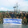 Aspirantes e equipe de instrução embarcados no NApLogFluPotengí.