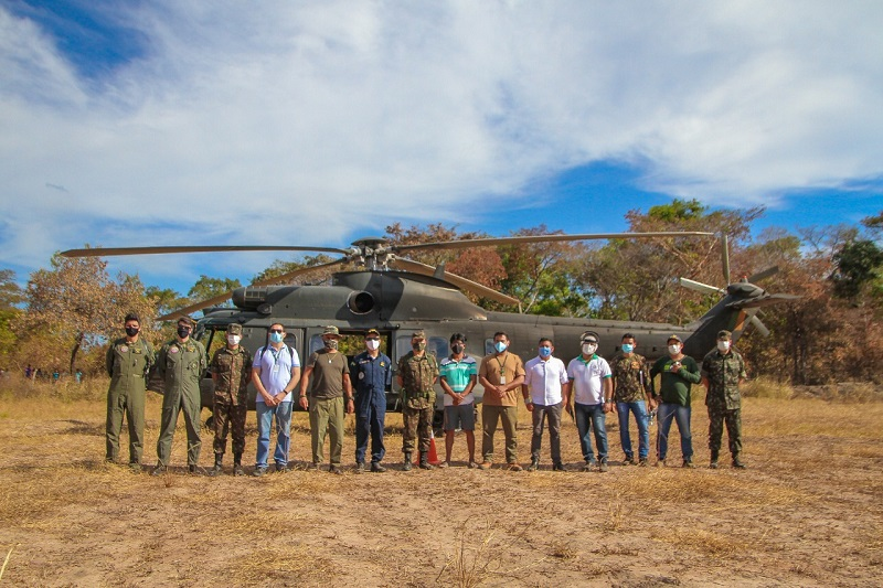 Equipe foi composta por militares das Forças Armadas e servidores estaduais e municipais