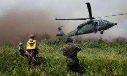 Militares e aeronaves estão empregados nas atividades. Foto Jéferson Prado