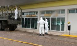 Descontaminação na área externa