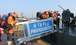 Navio realizou o transporte de bombeiros militares de MS e do PR