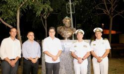 MB presenteou Cuiabá com o busto do Almirante Tamandaré