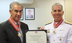 Governador Reinaldo Azambuja e C Alte Arentz (Foto: Chico Ribeiro)