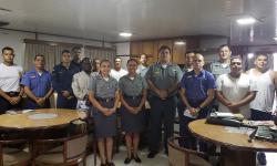Militares a bordo do Navio Caravelas