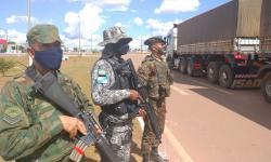Militares da Marinha do Brasil participaram de Postos de Bloqueio e Controle de Estradas nos municípios do interior de MT