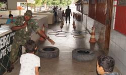 Militares organizaram gincanas com distribuição de brindes