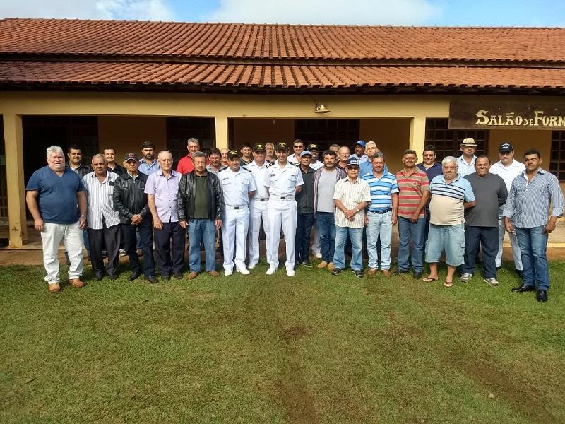 Equipe da Agência Fluvial de Porto Murtinho e participantes do curso