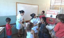 Cerca de 100 crianças participaram do atendimento odontológico