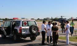 Aeronave do EsqdHU-4 com o militar pousou no Aeroporto de Corumbá