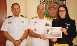 C Alte Arentz com a Deputada Estadual Janaína Riva e o Capitão dos Portos de Mato Grosso, CC Cristiano