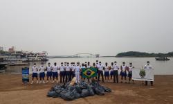 Cerca de uma tonelada de lixo foi recolhida no Porto Geral de Corumbá-MS
