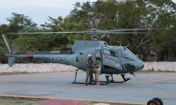 Criança foi resgatada com auxílio de aeronave