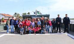 A experiência foi a bordo do Navio-Transporte Fluvial Almirante Leverger