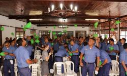 Núcleo de Assistência Social organizou dinâmicas em grupo com os militares