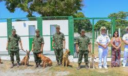 Inauguração do Canil Lobão no Grupamento de Fuzileiros Navais de Ladário