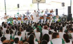 Primeira apresentação foi na EMEB Dep. Ulisses Silveira Guimarães