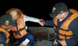 Idosos foram resgatados na foz do rio Pacu