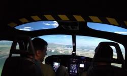 Pilotos simulando emergências no SHEFE