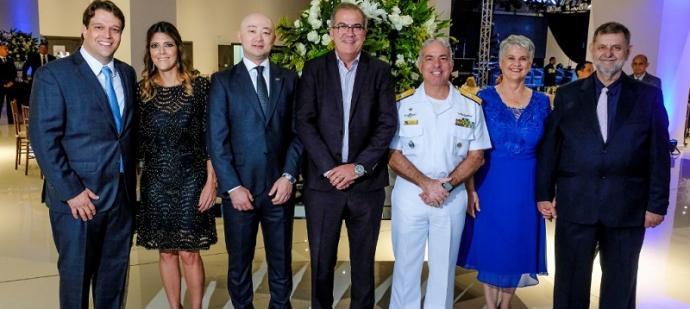 Almirante Arentz durante o evento