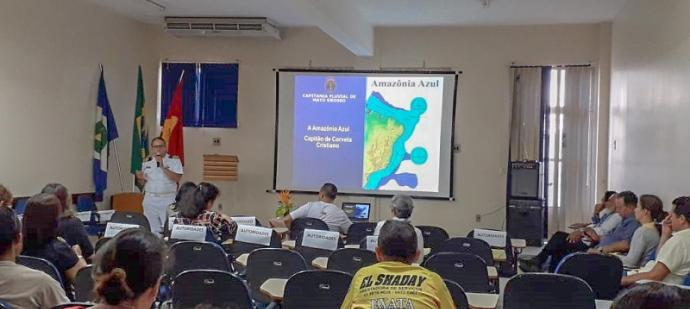 Capitão dos Portos, CC Cristiano, em palestra sobre Amazônia Azul
