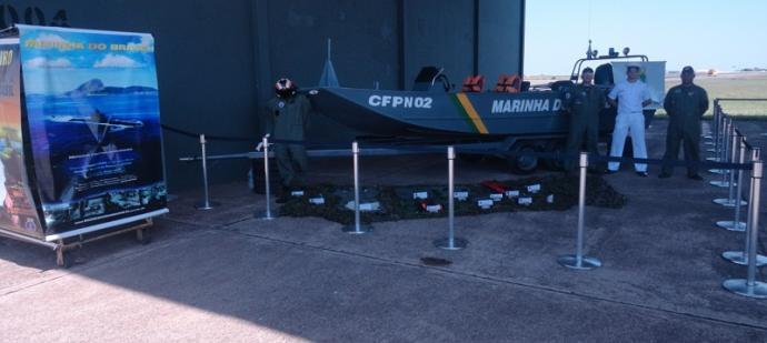 Militares da CFPN e do HU-4 durante o evento