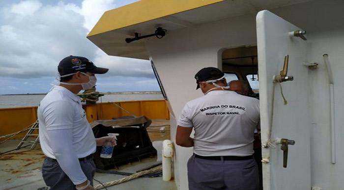 Capitania dos Portos de Pernambuco realiza ações de Inspeção Naval e de conscientização sobre coronavírus