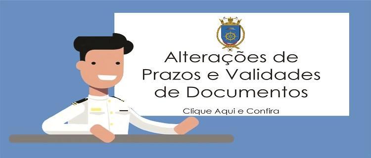 Alterações prazo validade dos documentos