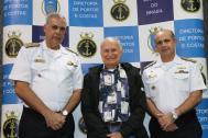 VAlte Roberto (DPC), Vilfredo Schurmann e CAlte Viamonte (CIAGA) durante a cerimônia de premiação da 45ª Regata DPC