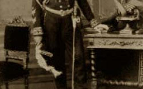 Retrato do Almirante Tamandaré com dedicatória ao Barão do Amazonas, datada de 29 de setembro de 1873. Fotógrafo Joaquim Insley Pacheco