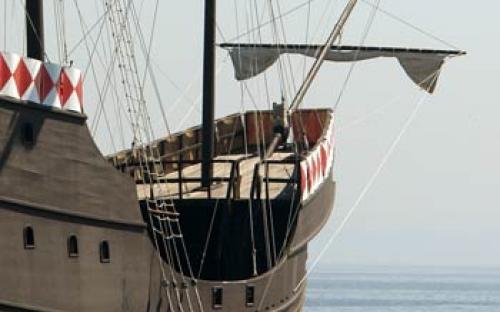 Convés superior da proa (parte anterior da embarcação)