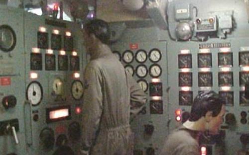 Quadro elétrico principal do Submarino-Museu Riachuelo