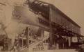 Lançamento do Cruzador Almirante Tamandaré em 20 de março de 1890 no Arsenal Velho. Fotógrafo Marc Ferrez