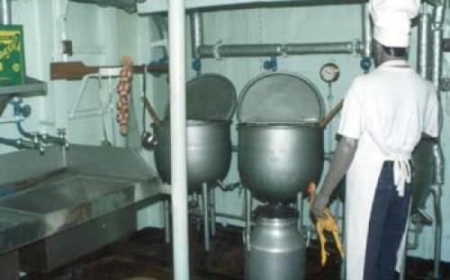 Cozinha de bordo