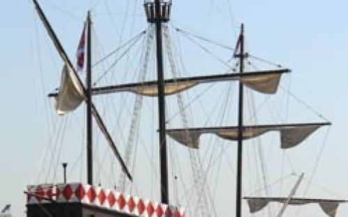Modelo de nau do século XV (Nau dos Descobrimentos)