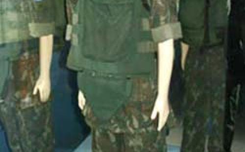 Manequim representando soldado da Marinha do Brasil nas operações de Paz da ONU e da OEA