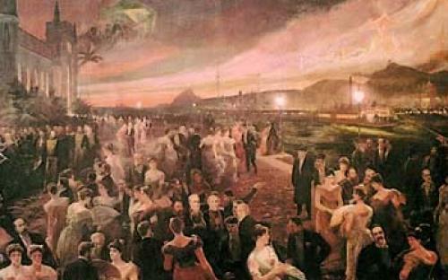 """Cópia da tela """"O Último Baile"""", cujo original é de Aurélio Figueredo, e está exposto no Museu Histórico Nacional"""