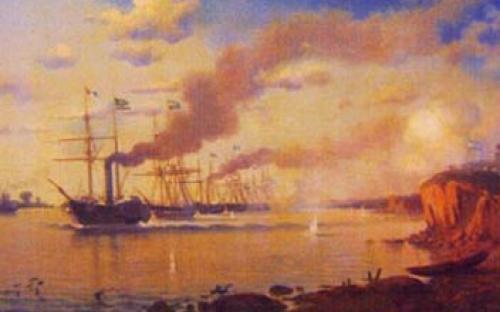 """""""Passagem de Tonelero"""" óleo sobre tela de Eduardo De Martino"""