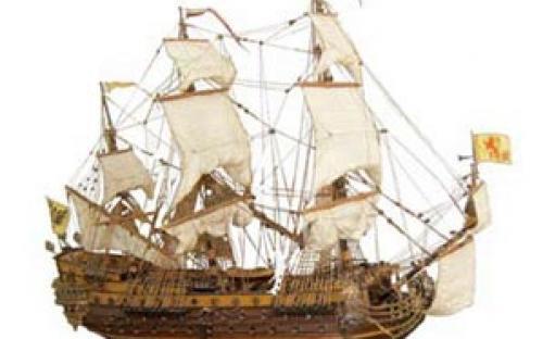 Modelo naval da Nau espanhola São Filipe, de Gastão Menescal Carneiro
