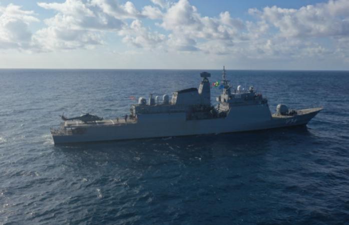 """Corveta """"Barroso"""" atraca na BNRJ após  Operação Líbano XVI"""
