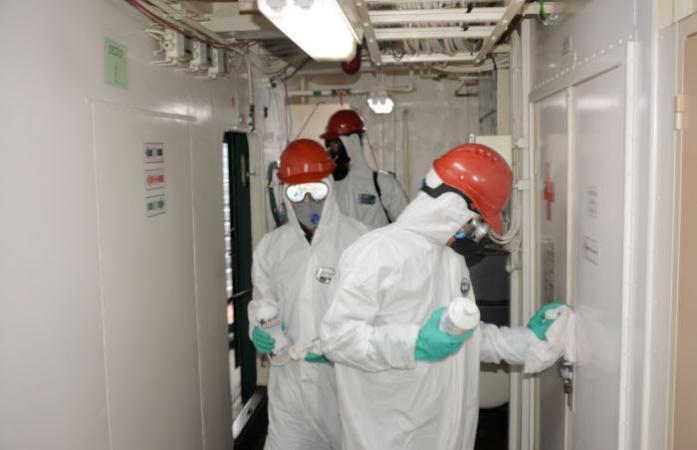 Militares do ComForSup são Qualificados para Descontaminação dos Meios da Esquadra