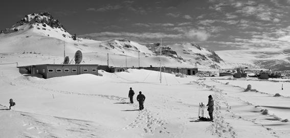 antiga estação antártica