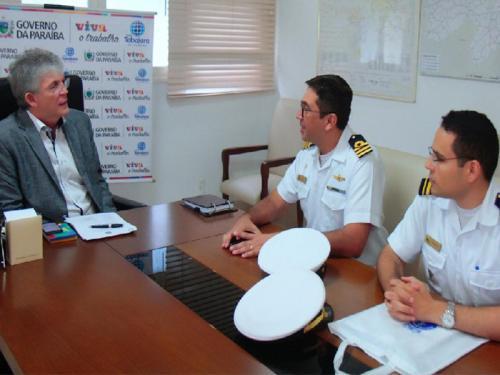 8dac92e5a593b Capitão dos Portos da Paraíba visita governador do estado