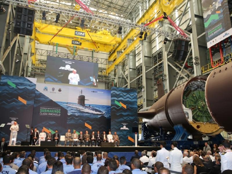 """f98a9cf06 Marinha do Brasil dá início à montagem final do Submarino """"Riachuelo ..."""