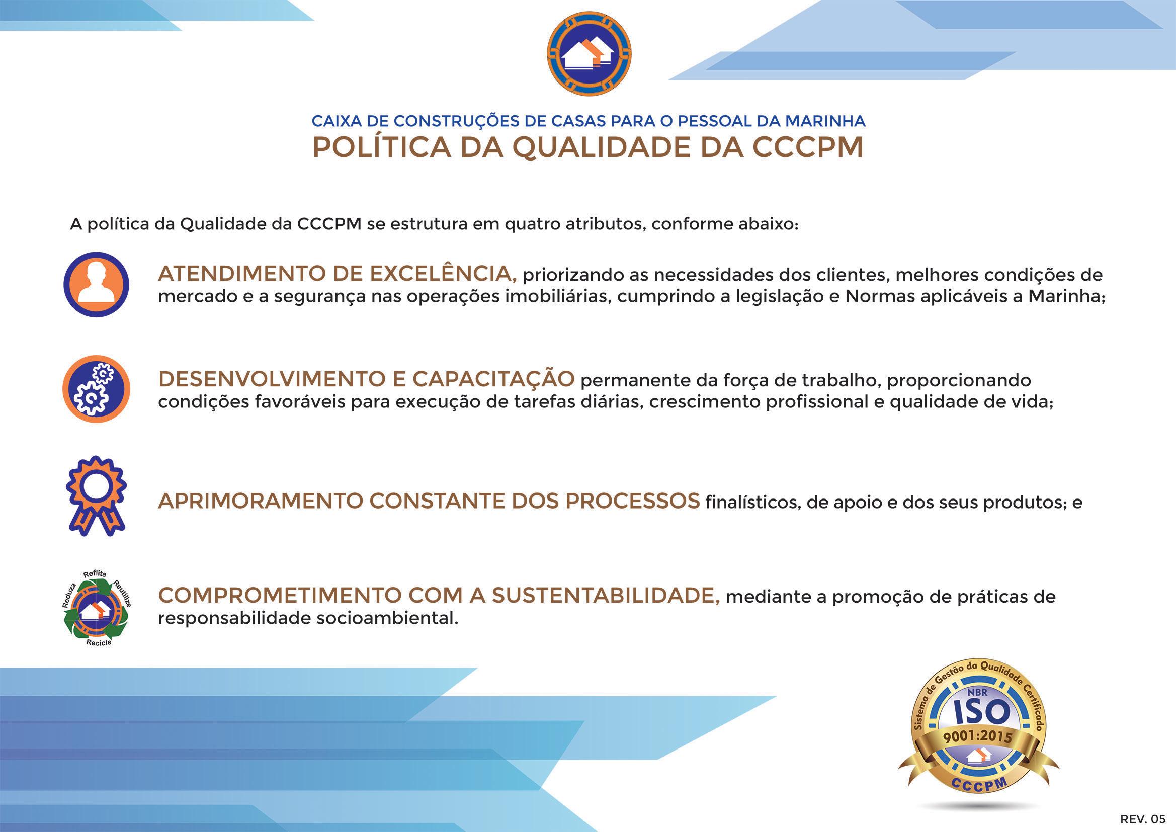 Política de qualidade da CCCPM